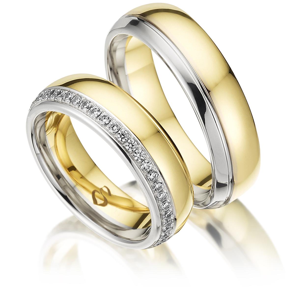 Trauringe 585 Gold 047 Karat Gold Ringe Mit Diamant Gravur