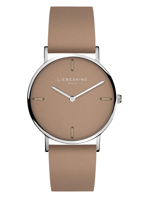LIEBESKIND BERLIN Armbanduhr Leder Vintage-Look IP Gold 34
